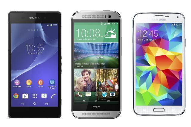 Smartphone comparison: GS5 vs One M8 vs Xperia Z2