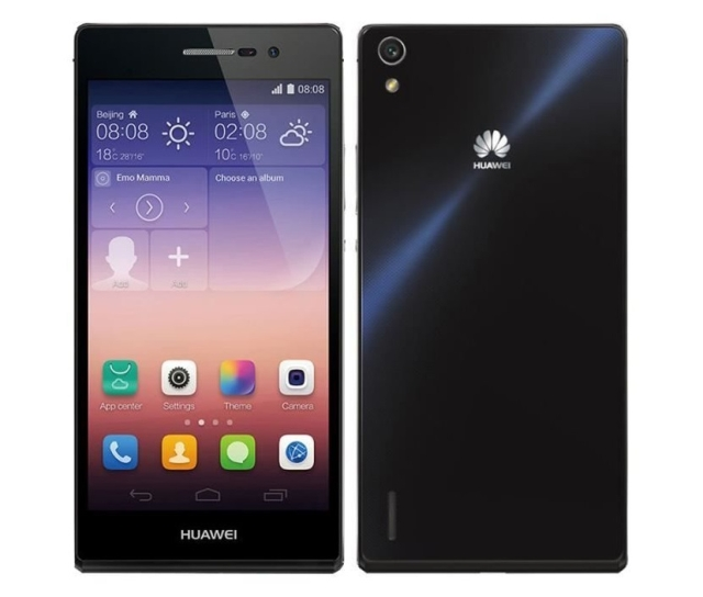 The smartphone Huawei Ascend P7
