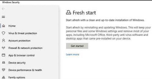 Windows 10 gives you the option of installing a completely fresh OS