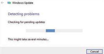 The automatic Windows Update Troubleshooter can fix many common problems