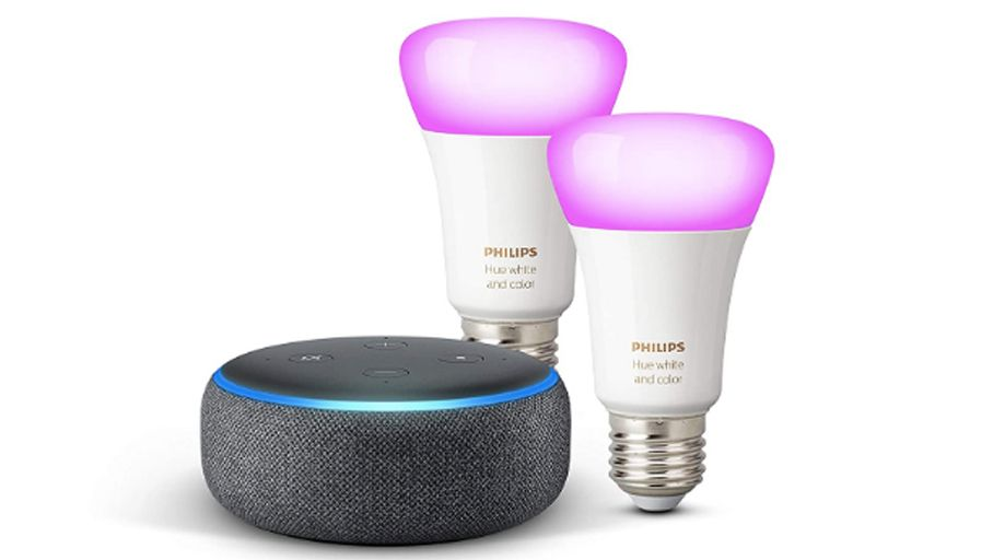 Echo Dot + Philips Hue White & Color 2 bulbs