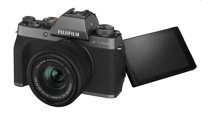 The new Fujifilm X-T200, a mid-range mirrorless camera