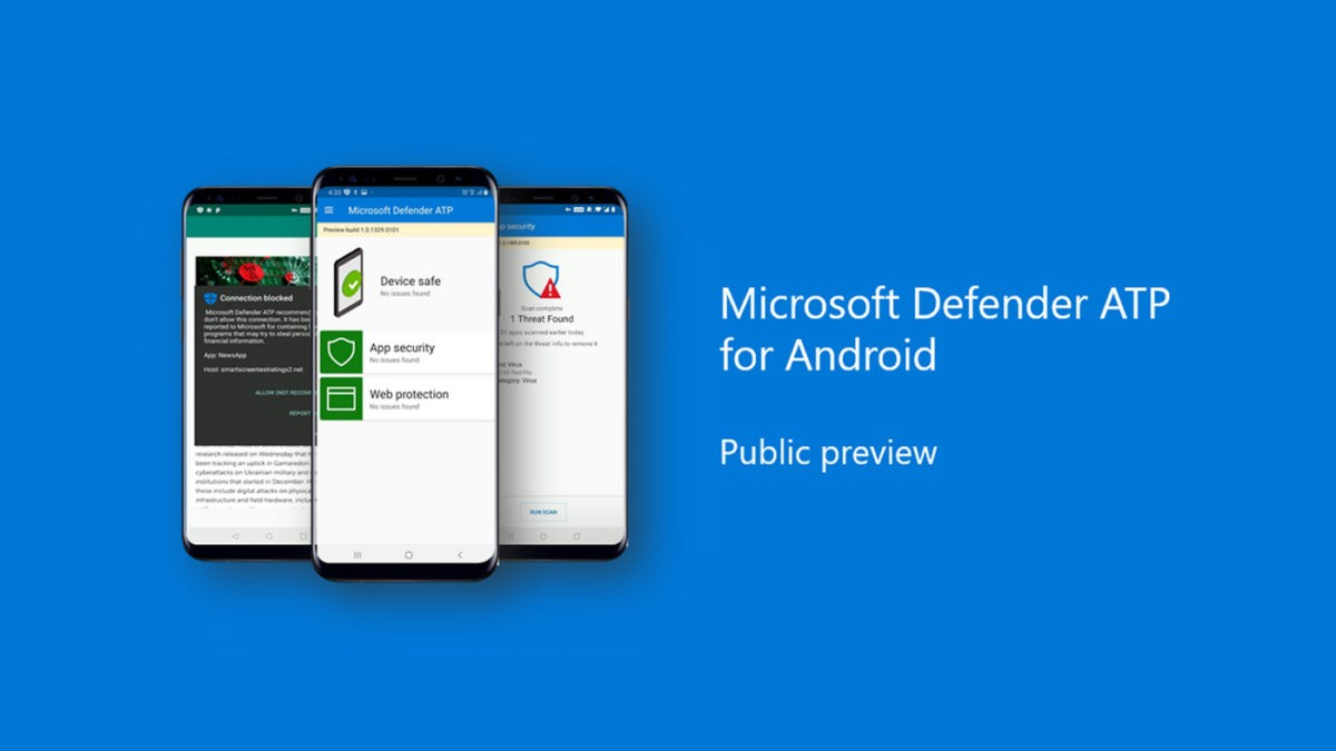 Microsoft Defender antivirus is available on Android